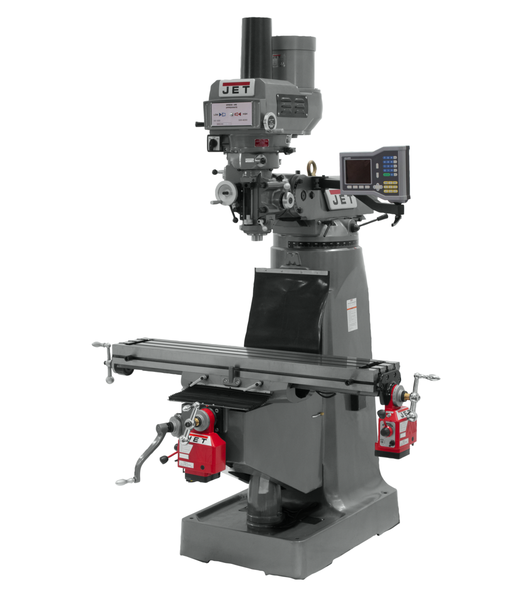 JTM-4VS-1 Mill With ACU-RITE 203 DRO With X and Y-Axis Powerfeeds and Power Draw Bar