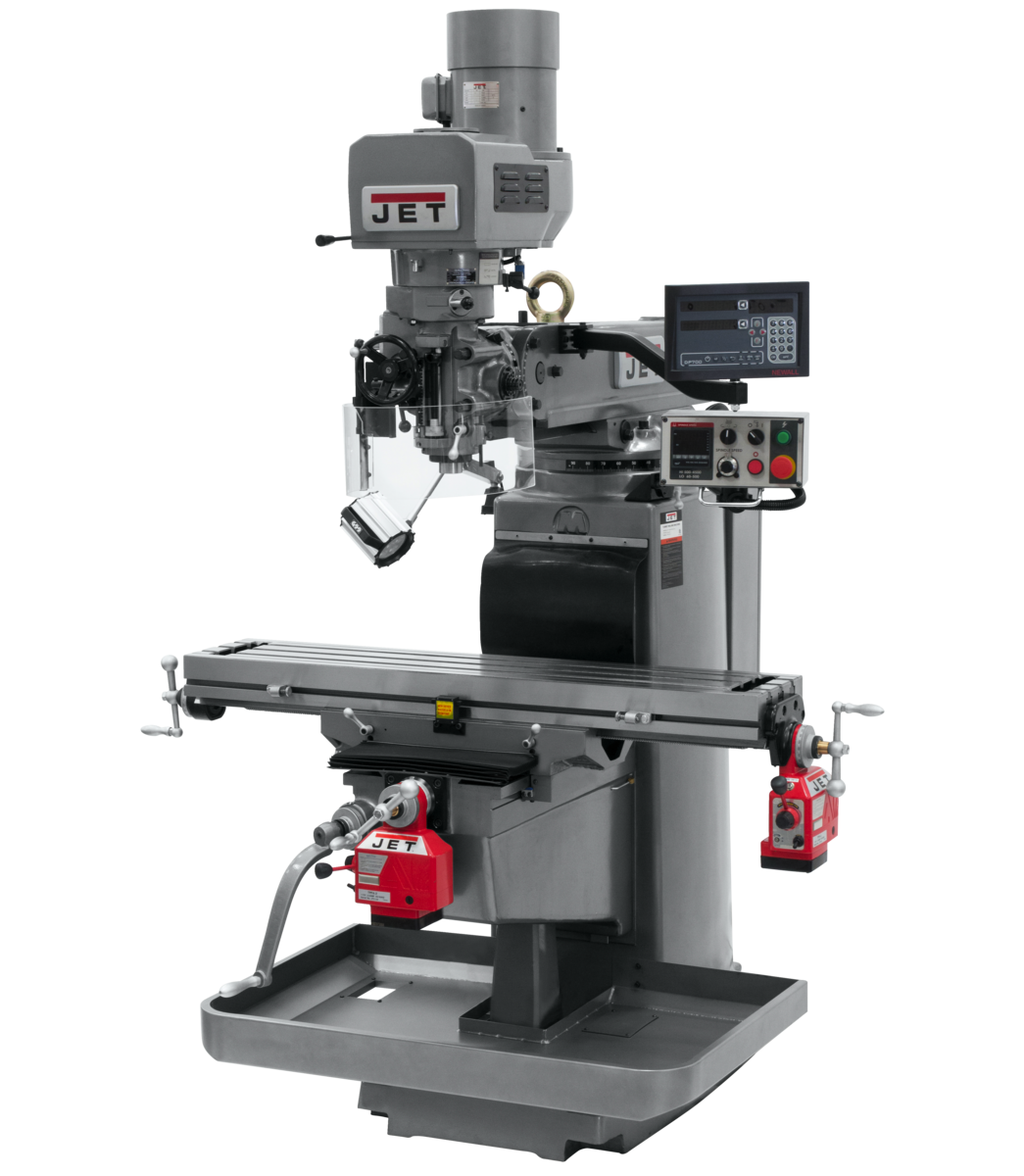 JTM-1050EVS2/230 Mill With 3-Axis Newall DP700 DRO (Quill) With X and Y-Axis Powerfeeds