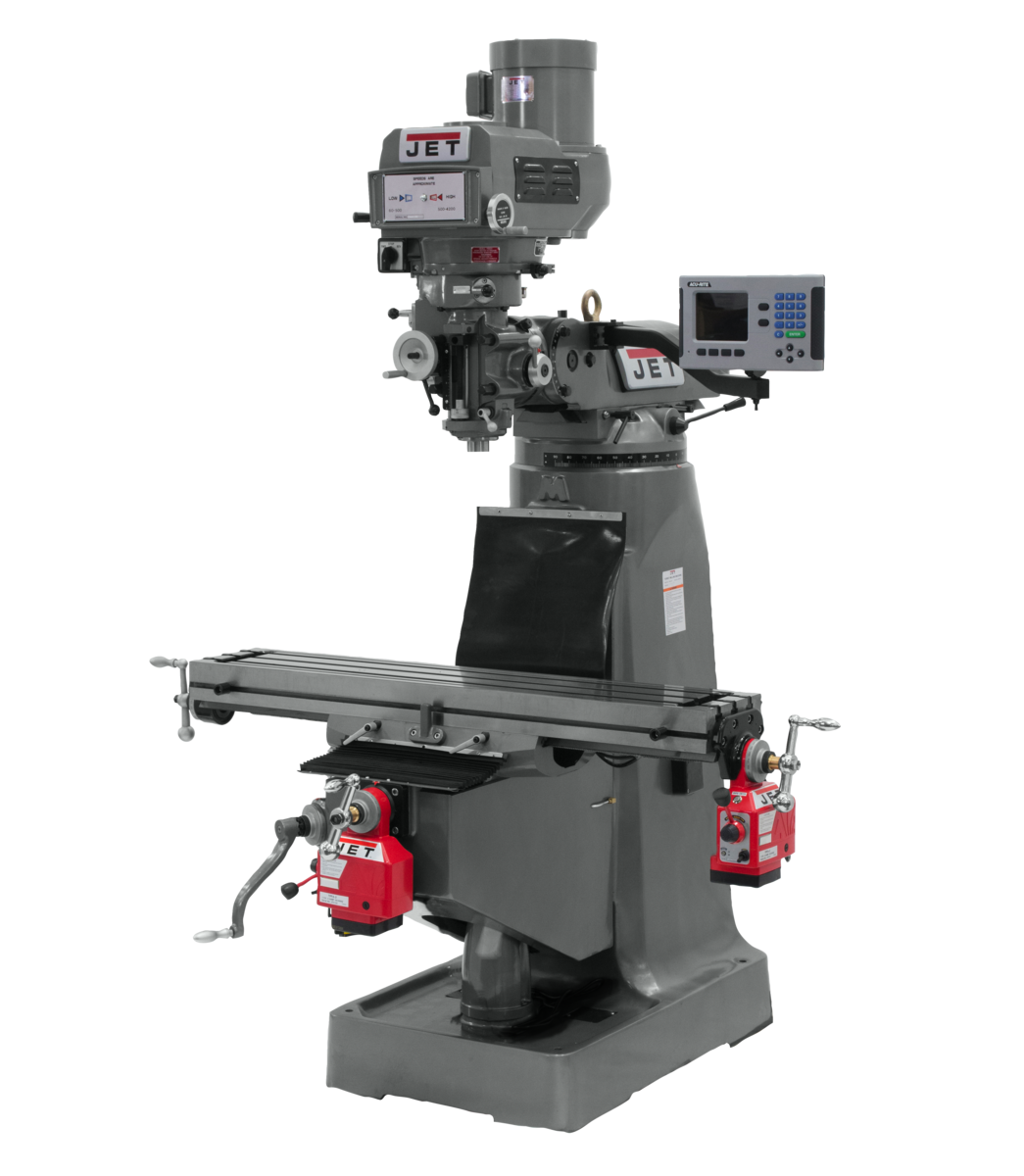 JTM-4VS Mill With ACU-RITE 203 DRO With X and Y-Axis Powerfeeds