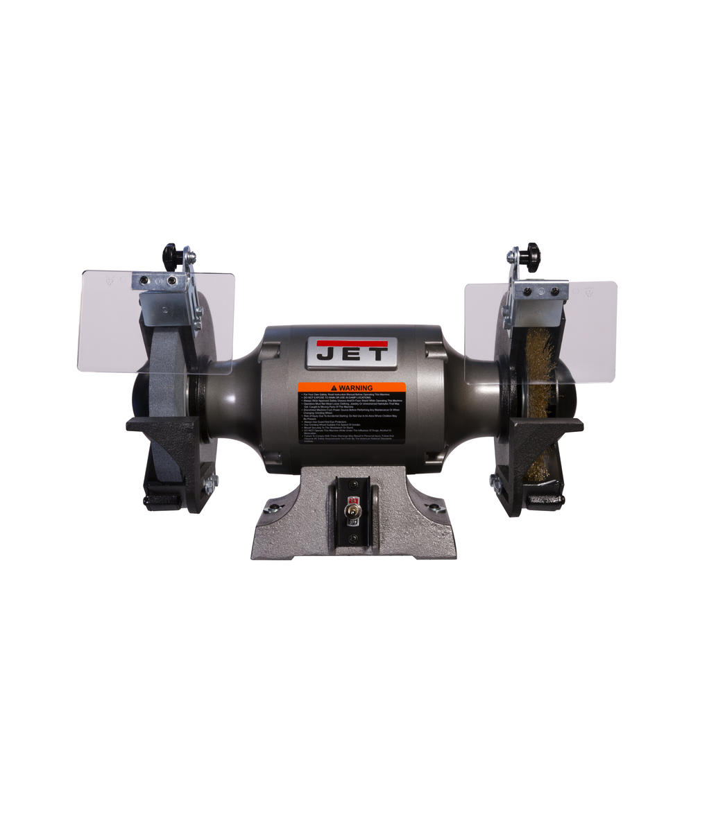 JBG-8W Shop Grinder with Grinding Wheel and Wire Wheel
