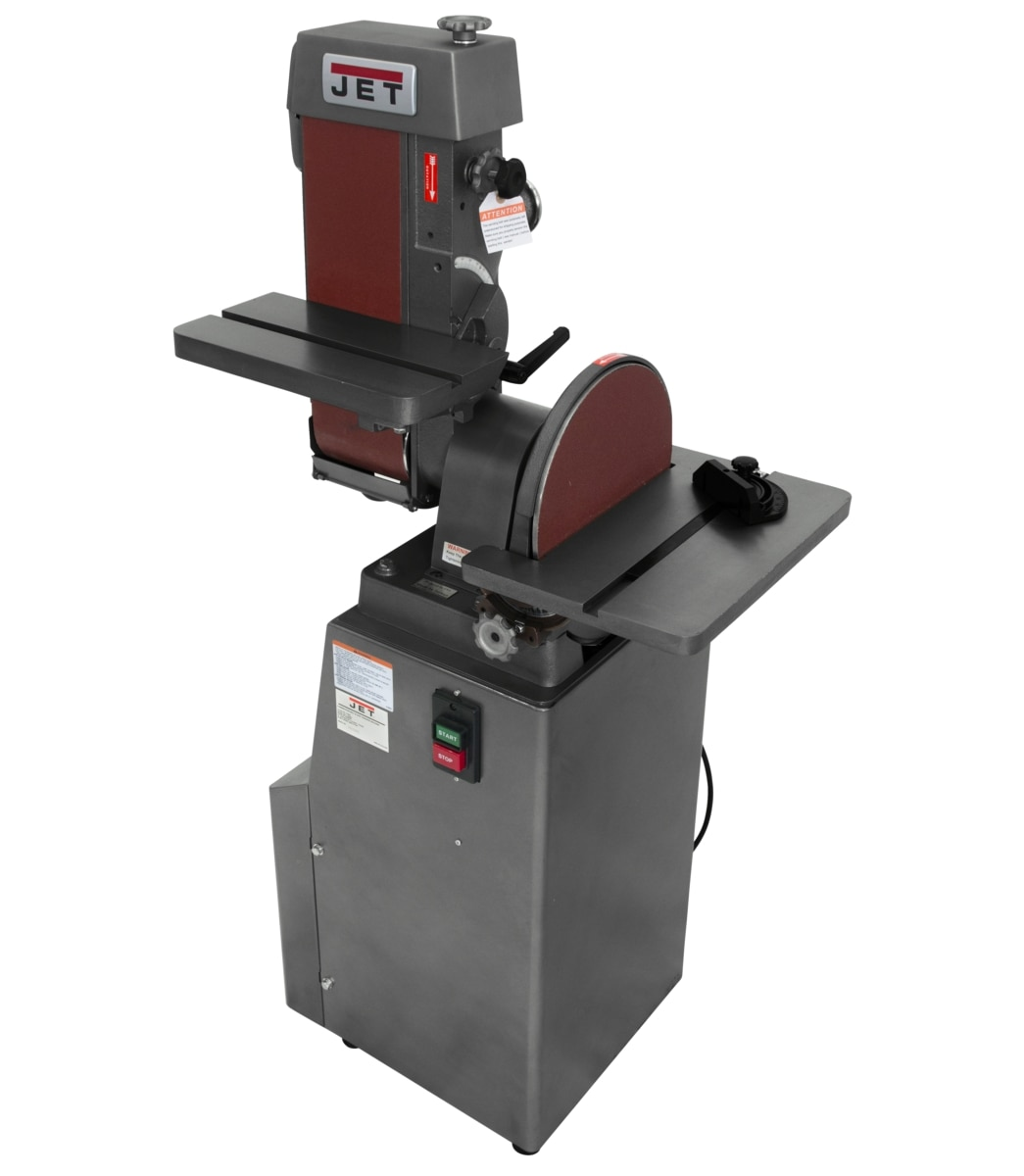 "J-4200A-2, 6"" x 48"" Industrial Combination Belt and 12"" Disc Finishing Machine 230V 1Ph"