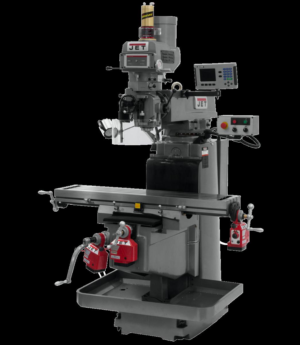 JTM-1254VS with  ACU-RITE   203 3X (K) DRO, X,Y&Z  Powerfeeds & Air Power Drawbar