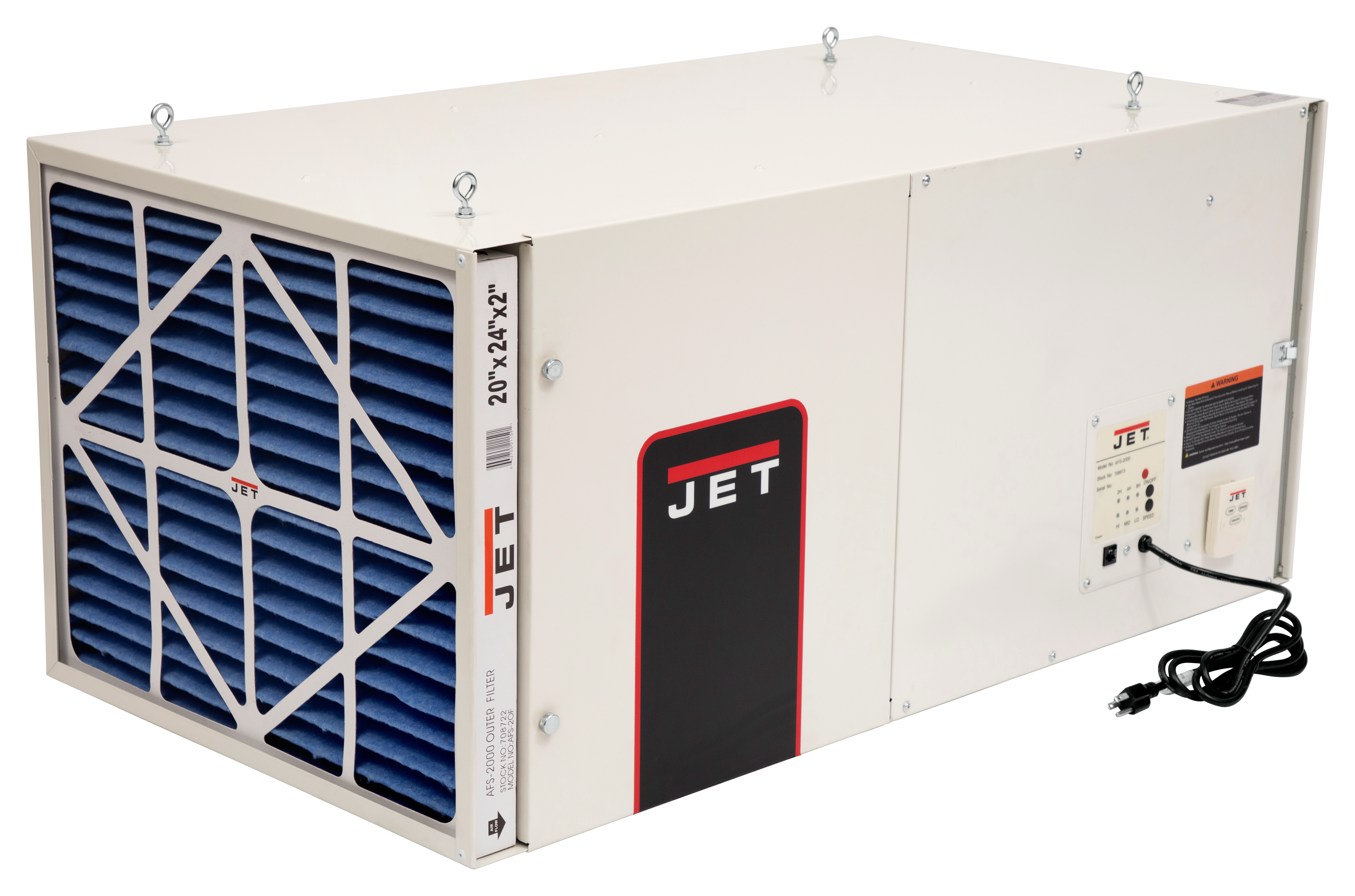 AFS-2000, 1700CFM Air Filtration System, 3-Speed, with Remote Control