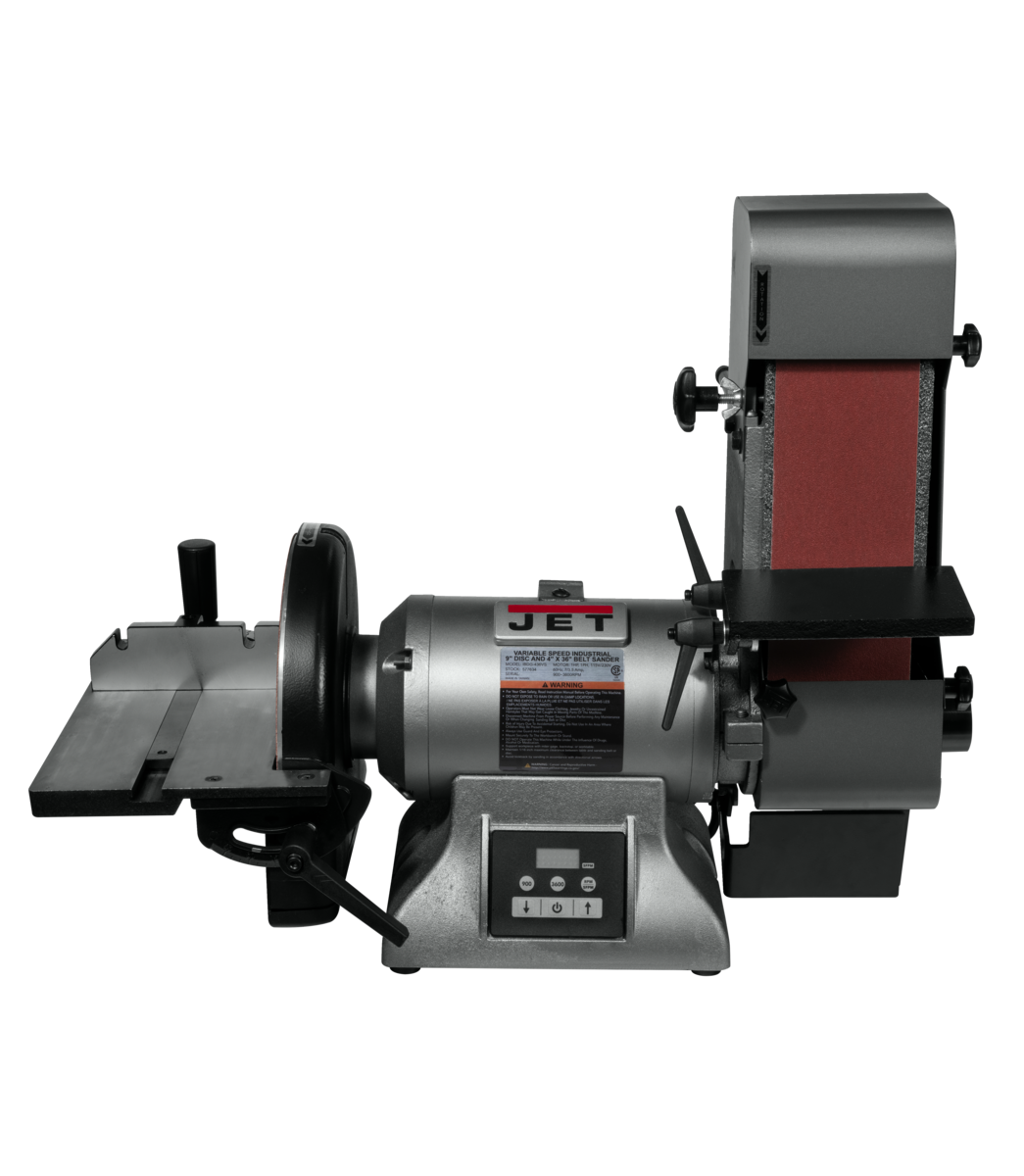 "IBDG-436VS Variable Speed Industrial 4"" x 36"" Belt and 9"" Disc Grinder"