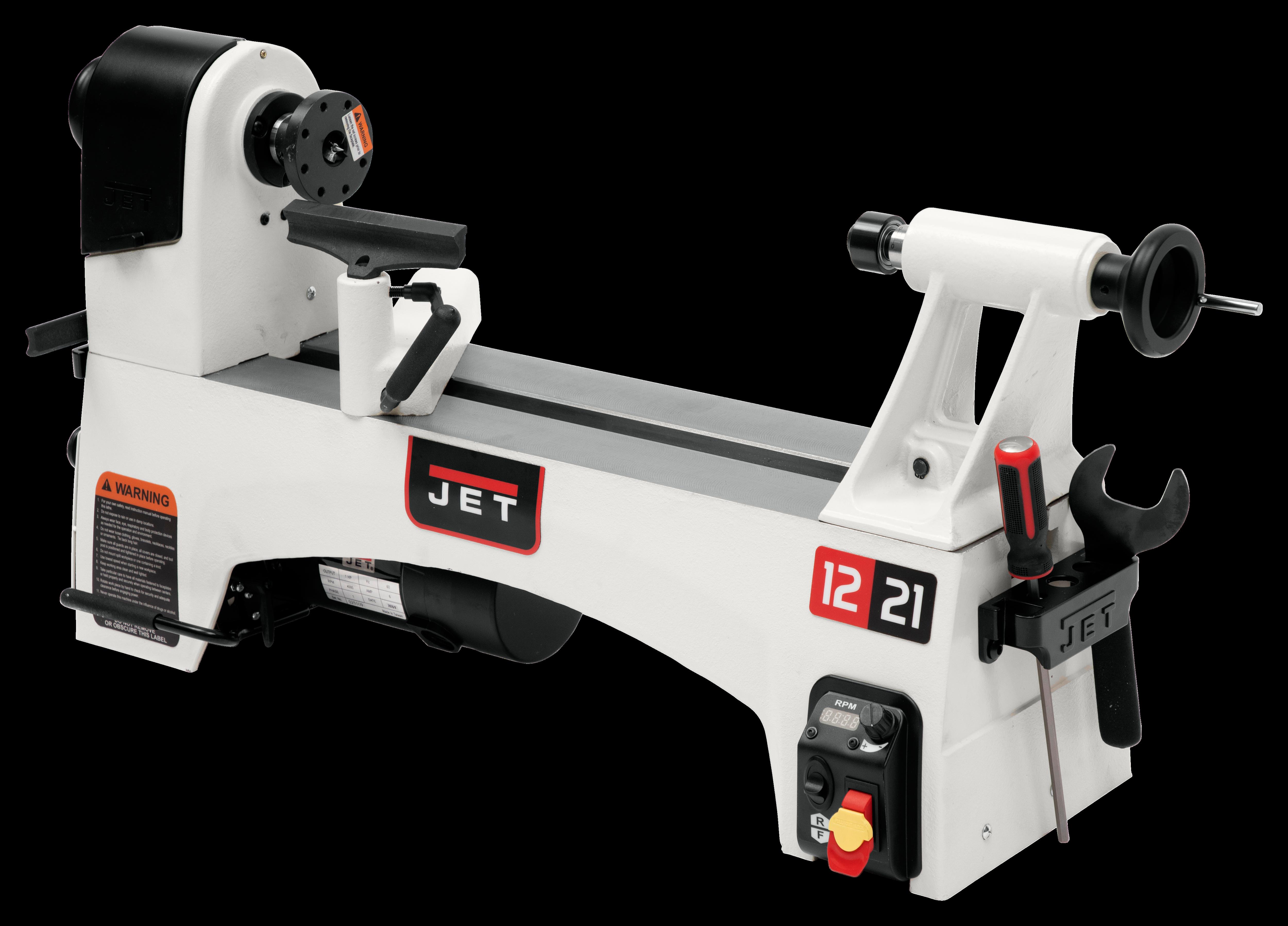 JWL-1221VS 12'' x 21'' Variable Speed Wood Lathe