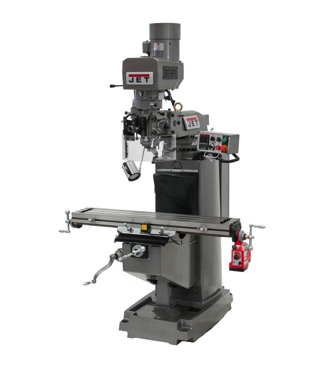 JTM-1050EVS2/230 Mill With 2-Axis Acu-Rite MilPwr G2 CNC Controller and Air Powered Draw Bar