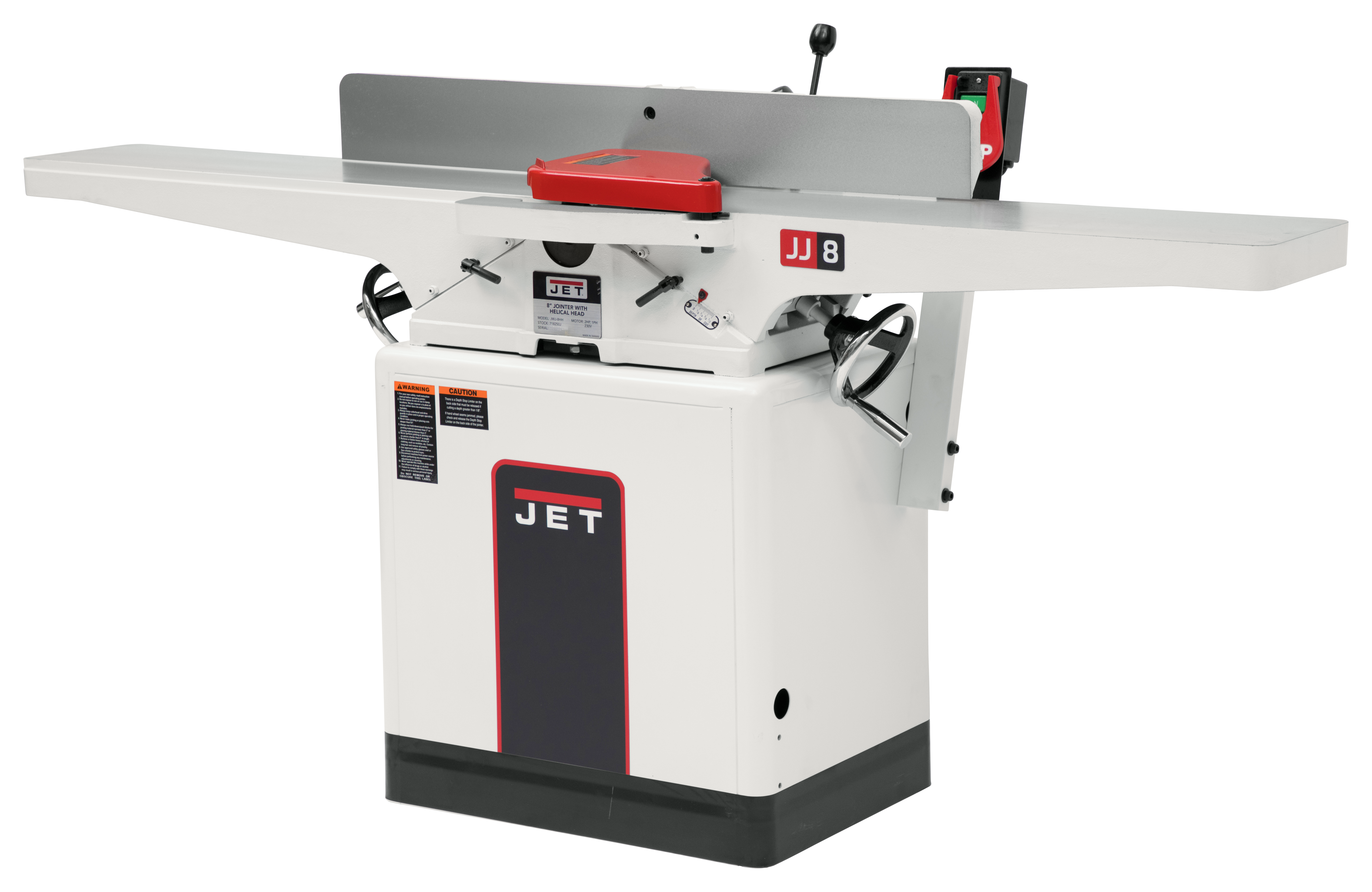 """JWJ-8HH, 8"""" Helical Head Jointer, 2HP, 1PH, 230V"""