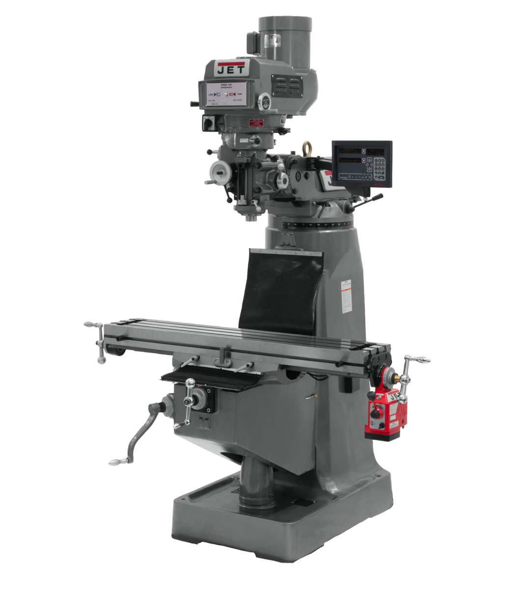 JTM-4VS-1 Mill With Newall DP700 DRO With X-Axis Powerfeed
