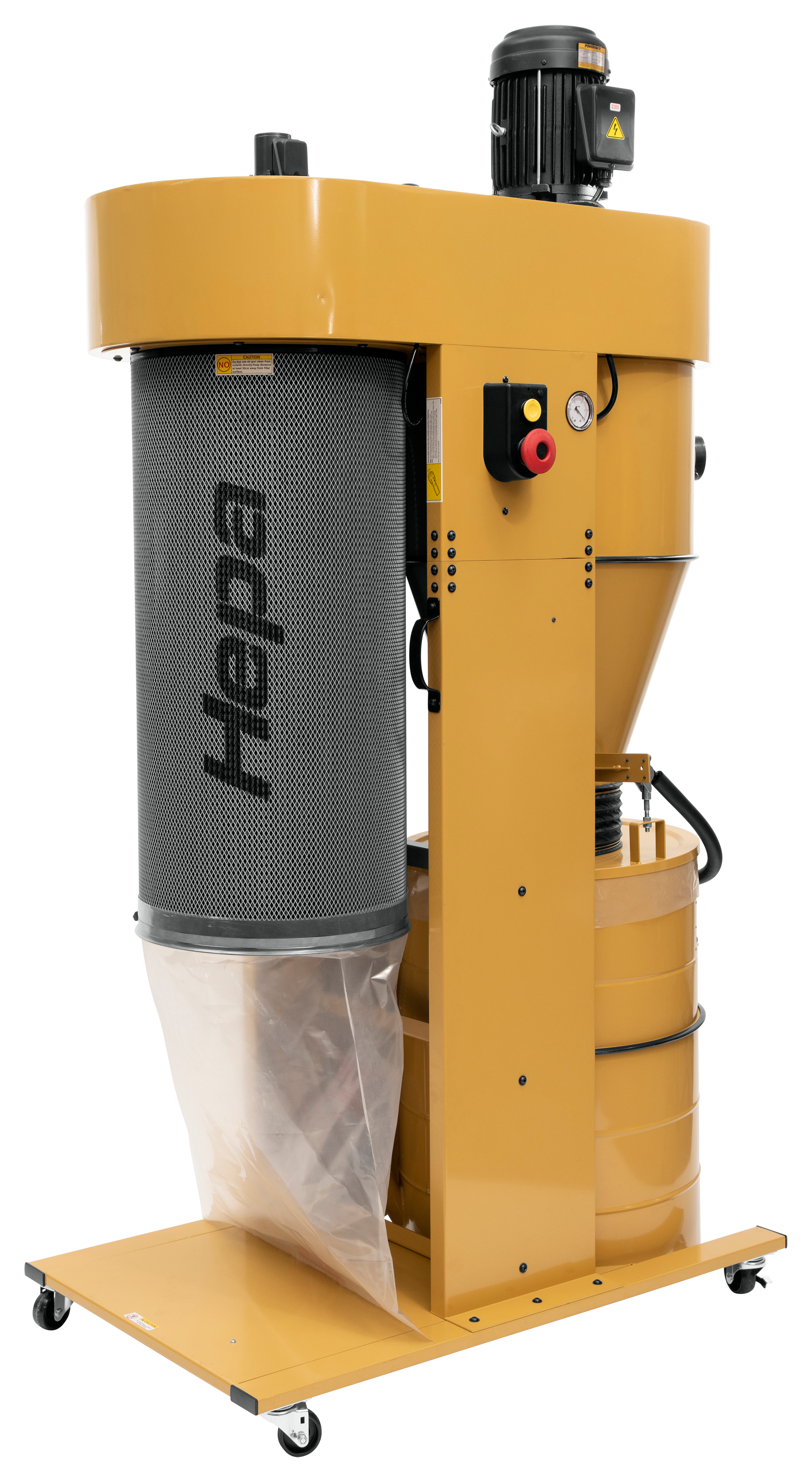 PM2205 5HP Cyclonic Dust Collector - with HEPA Filter