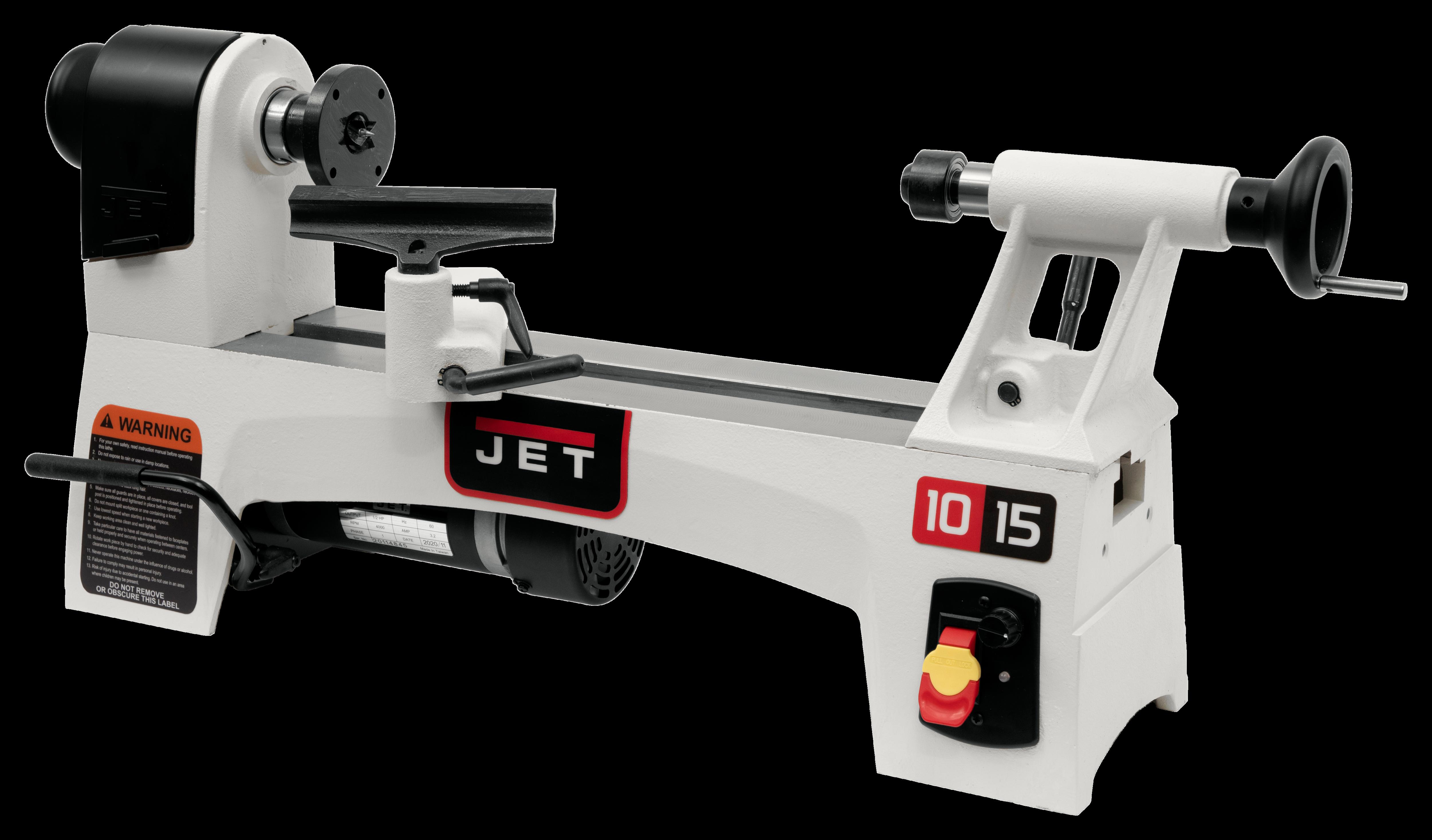 JWL-1015VS 10'' x 15'' Variable Speed Wood Lathe