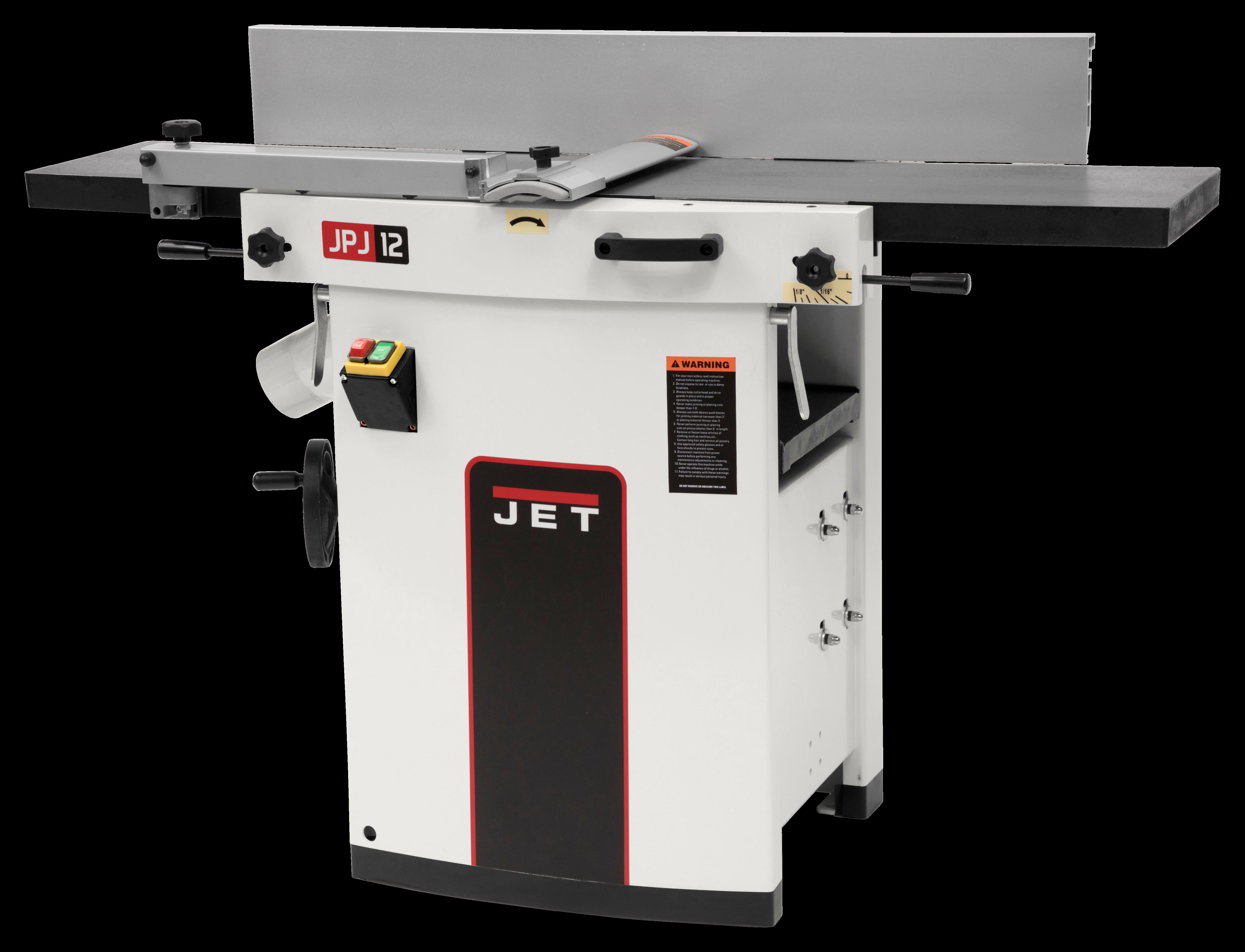 """JJP-12, 12"""" Planer/Jointer 3HP 1PH 230V"""