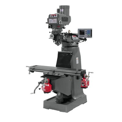 JTM-4VS Mill With 3-Axis ACU-RITE 203 DRO (Quill) With X and Y-Axis Powerfeeds