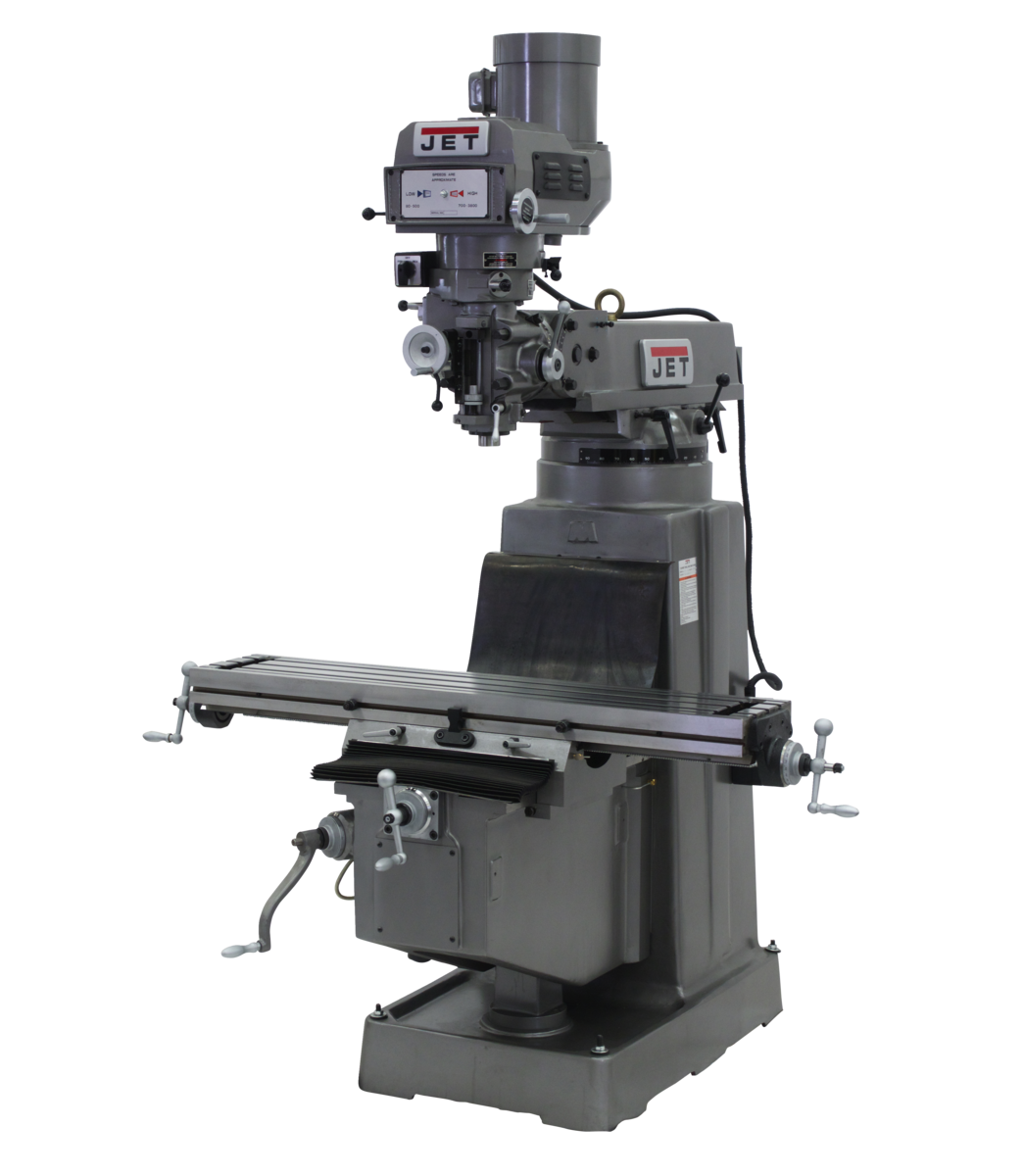 JTM-1050VS2 Mill With ACU-RITE 203 DRO With X-Axis Powerfeed and Air Powered Draw Bar