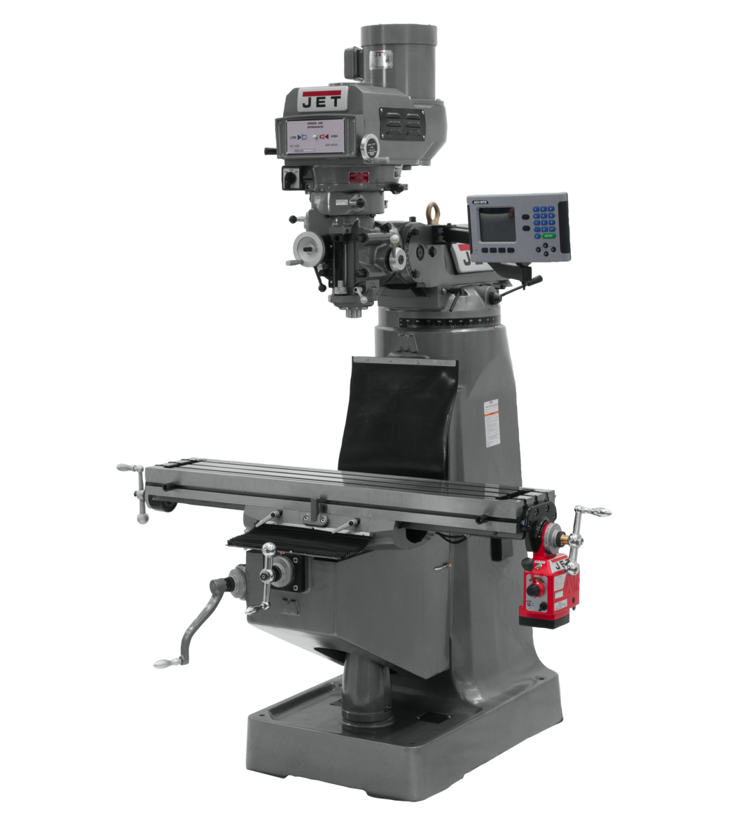 JTM-4VS Mill With ACU-RITE 203 DRO With X-Axis Powerfeed