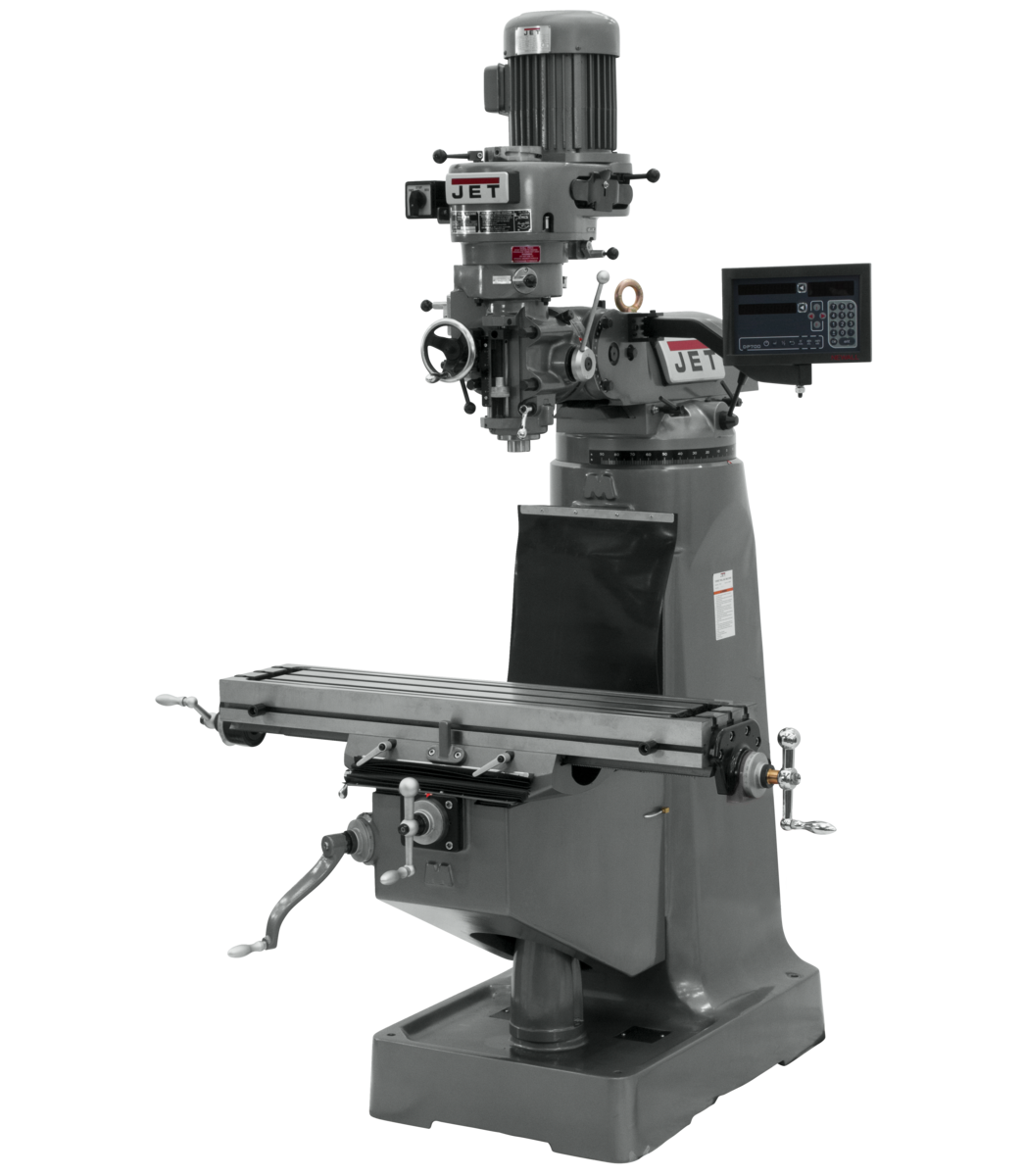JTM-2 Mill With 3-Axis Newall DP700 DRO (Knee)