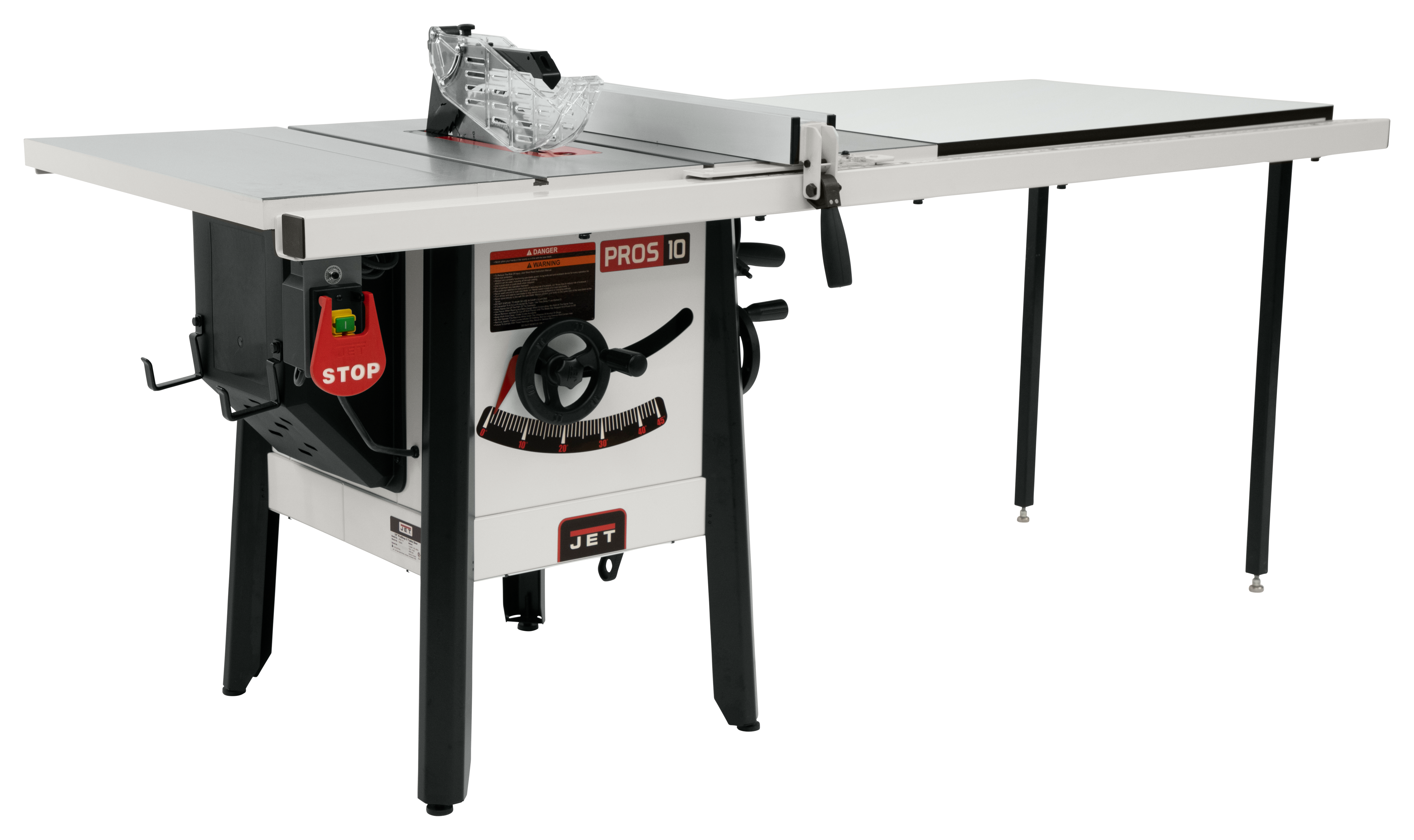 """The JPS-10 1.75 HP 115V 52"""" Proshop Tablesaw with Cast wings"""