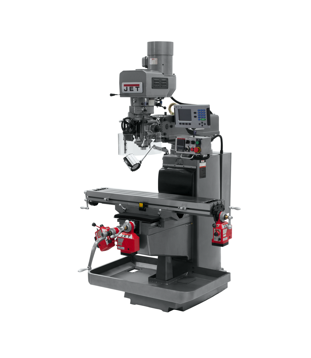 JTM-1050EVS2/230 Mill With 3-Axis Acu-Rite 203 DRO (Quill) With X, Y and Z-Axis Powerfeeds