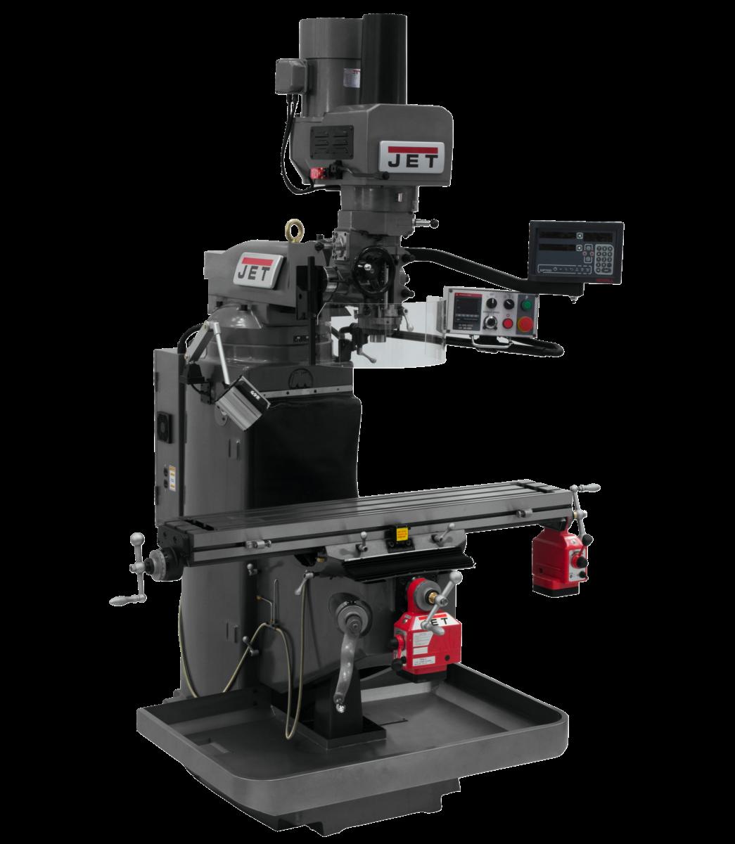 JTM-949EVS with Newall DP700 DRO, X & Y Powerfeeds & Air Power Drawbar