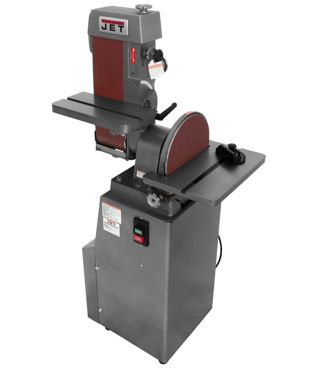 "J-4200A, 6"" x 48"" Industrial Combination Belt and 12"" Disc Finishing Machine 115V 1Ph"